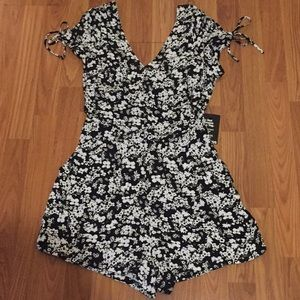 NWT Express Floral Shorts Romper